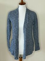 Soma Loungewear XS Blue Long Sleeve Open Front Cardigan Sweater