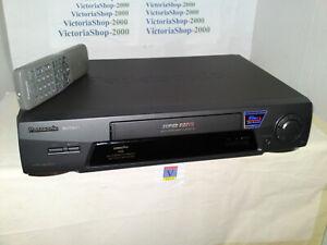 PANASONIC NV-FJ611B-K VHS VCR Video Recorder -60sec Jet Rewind-SuperDrive- Hi-Fi