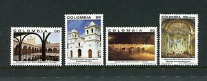 Colombia 1036-1039, MNH, Colonial Architecture 1991. x23390