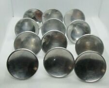 "Vintage Lot of 12 Silver Chrome Concave 2"" Drawer Pulls Handles Cabinet Cupboard"