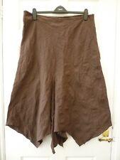 EAST COAST Ladies Size 18 Brown Pagan Wicca Asymmetric Pointy Hem Maxi Skirt