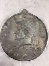 "Very Large Liberty Half Dollar Kennedy Display Date1964 Measures 7.75"" Diameter"