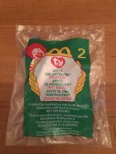 1999 McDonald's Ants The Anteater Teenie Beanie # 2 Sealed Baggie Mip