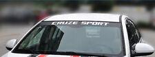 CRUZE SPORT Windshield Sticker Decal Graphic For  Chevrolet Cruze
