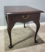 Ethan Allen End Table Georgian Court Accent  Nightstand 11-8407 #225 Queen Anne