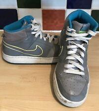 Nike Backboard II Leather Sports Trainers UK 5.5 EU 38.5 Grey White Blue 488157