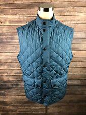 Barbour Men's Full Zip Quilted Blue Vest Size XL
