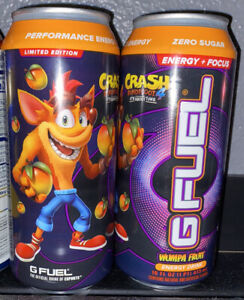 G Fuel Wumpa Fruit Energy Formula Can Drink Rare Gamma Labs *Ready To Ship*