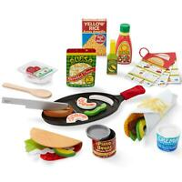Melissa & Doug 43 Piece Fill and Fold Taco Pretend Play Set, For Ages 3-6 Years