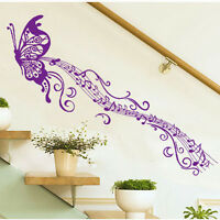 Home Room Wall Stickers Butterfly Music Removable Vinyl Decal Art Mural Decor
