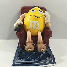 Vintage M&M Maroon Recliner Candy Dispenser Yellow Lay Z Boy Rare June 1999