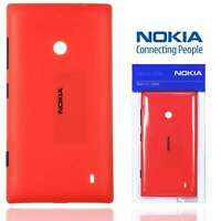 Genuine Hard Shell Case for Nokia Lumia 520 Tough Slim Thin Luxury Red Cover