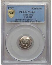 Nurnberg 1797 Kreuzer PCGS MS66, Sharp Details, Subtle Toning !