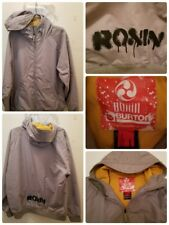 BURTON RONIN Snowboard Ski Jacket Size Large Hooded Mens Spellout Outdoors