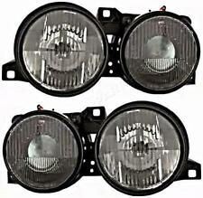 Headlights Black Left+Right Pair For BMW E30 1982-1994