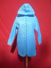 NWT Asos Light Blue Women Very Lightweight Not Winter Hooded Coat  Jacket Sz 8