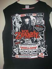 Rob Zombie sleeveless T-shirt Men's Size XL Metal Spooks a poppin  Goth gouls