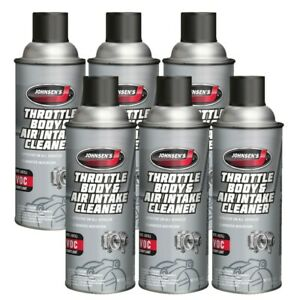 Johnsen Throttle Body & Air Intake Cleaner, Fuel Injected & More 10oz -6 Pack