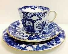 "Royal Crown Derby ""Mikado"" Pattern Tea Cup Trio."