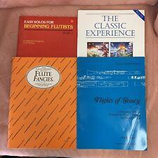 Flute Sheet Music Books x 4