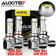 AUXITO LED Headlight Kit 9005 9006 Combo Bulbs Hi Low Beam 6500K 150W Cool White