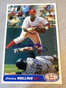 Jimmy Rollins Autographed 2004 Philadelphia Phillies Team Issued Postcard