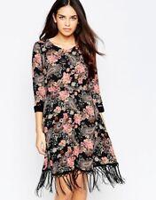 stijlvolle jurk met fringjes  nieuw !!!