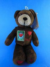 I LOVE CHOCOLATE stamp bear USA 29 Cent PLUSH 9'' Bean Bag BEAR Mint w Tags