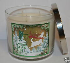 NEW BATH & BODY WORKS VANILLA BEAN NOEL SCENTED CANDLE 3 WICK 14.5 OZ LARGE