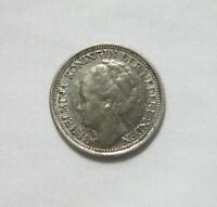 NETHERLANDS. SILVER 10 CENTS, 1938.