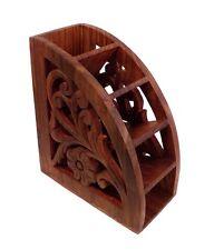 Wooden Multipurpose Wooden Remote Control Stand Organiser Rack Holder Shelve