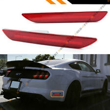 FOR 2015-2020 FORD MUSTANG REAR BUMPER SIDE MARKER REFLECTOR LED LAMPS LIGHT RED