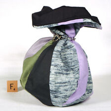 Striped DICE BAG — for Game Parts, Toys, Sewing Notions, Letter Tiles — (Bag F)