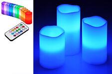 3 X LED Wachskerzen Echtwachs  Kerzen Farbewechsel mit Fernbedienung & Timer Neu