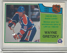 1983-84 OPC #216 WAYNE GRETZKY ASSIST LEADERS  NICE CARD