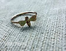 Sweet Honey Bee Stack-able Ring Size 8 Either Gold, Silver, or Rose Gold Color