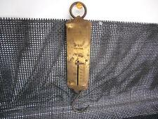 Antique 1891 CHATILLONS BRASS SPRING BALANCE SCALE New York 50 lb Capacity Old
