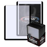 25 BCW 3 x 4 TOPLOAD BASEBALL TRADING CARD HOLDERS BLACK BORDER HARD PROTECTORS