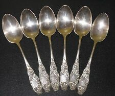 "~1890 Antique Sterling Silver Serving Spoons Frank Whiting 8.5"" ESTHER Scroll~"