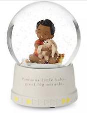Hallmark Jesus Loves Me Snowglobe Musical Globe Mahogany Black Child Baby NEW