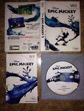 Disney Epic Mickey (Nintendo Wii, 2010) Complete CIB
