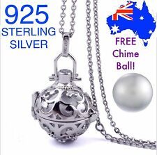 Angel Caller Harmony Chime Ball Pendant Necklace 925 Sterling Silver Chain NEW