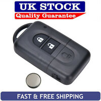 Nissan 2 Button Remote Key Fob Service Kit Fits Micra Navara Xtrail Qashqai