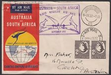 AUSTRALIA, 1952. First Flight, Sydney - Johannesburg - Return
