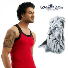 Lion Temporary Tattoo Body Art Mens, Womens, Kids, Stick On Tattoo, Waterproof