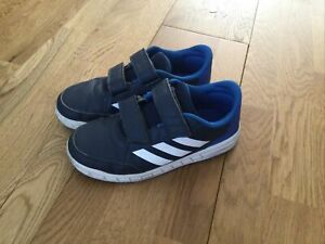 Adidas Boys Trainers, Blue, Size 1.