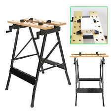 FOLDABLE WORKBENCH PORTABLE WORK CLAMPING FOLDING WORKTOP TABLE UK