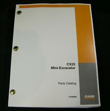 CASE CX25 Mini Excavator Parts Manual Book Catalog List