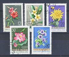 VIETNAM du NORD Fleurs N° 267/71 Ob