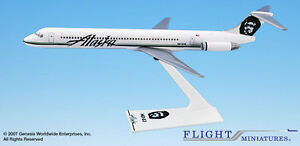 Flight Miniatures Alaska Airlines McDonnell Douglas MD-83 1:200 Scale w/Stand